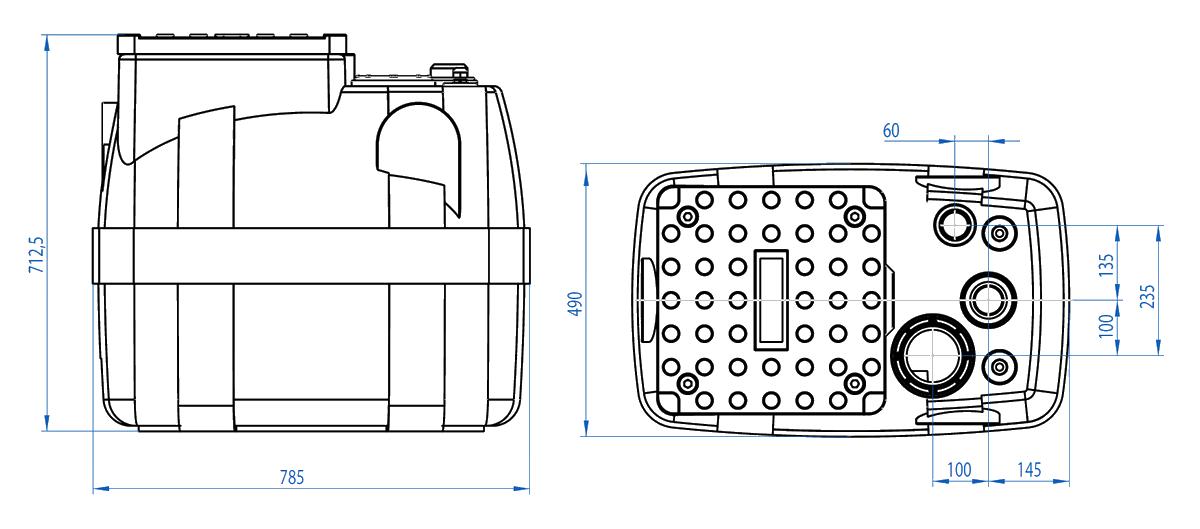 Dreno BOX 200 - rozměry