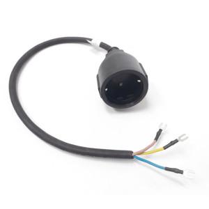 Kabel H05RNF 3G1,0mm se zásuvkou - 0,5 m
