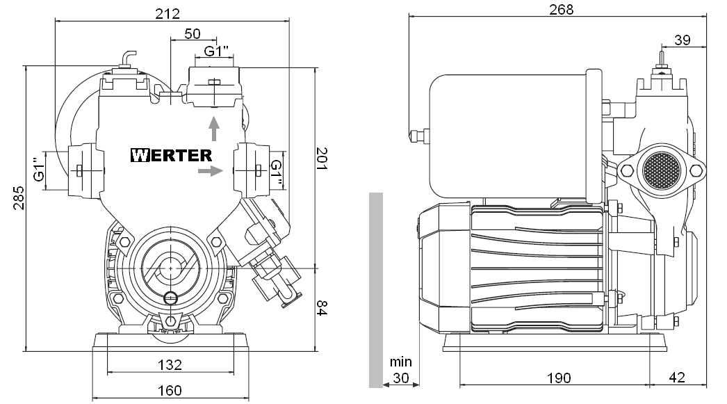 Werter PRESS 550 - rozměry