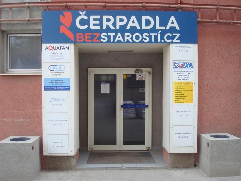 ČerpadlaBezStarostí.cz - vchod do prodejny
